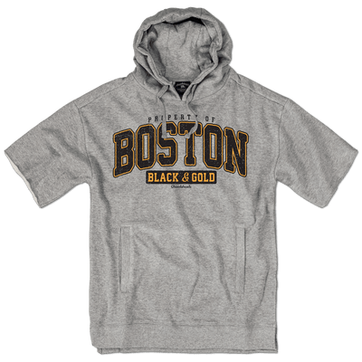 Property of Boston Black & Gold Coach Hoodie - Chowdaheadz