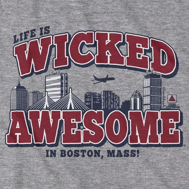 Wicked Awesome Boston Skyline T-Shirt - Chowdaheadz