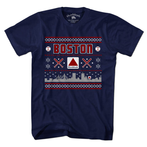 Ugly Holiday Sweater Boston T-Shirt - chowdaheadz - 1