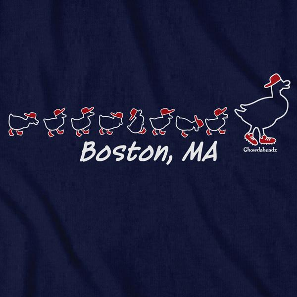 Boston Ducks On The Common T-Shirt - Chowdaheadz