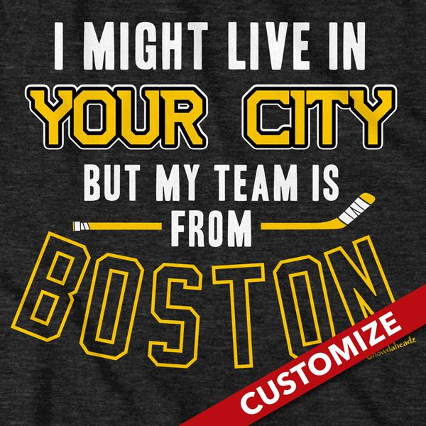 My Hockey Team Is In Boston T-Shirt - Chowdaheadz