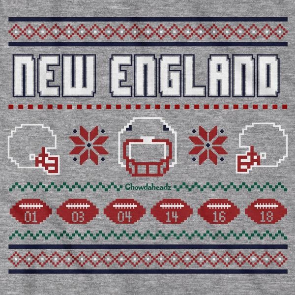 New England Ugly Sweater T-Shirt - Chowdaheadz