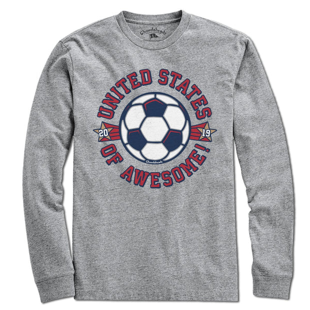 United States Of Awesome Soccer T-Shirt - Chowdaheadz