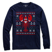 Boston Lobstah Ugly Holiday Sweater T-Shirt - Chowdaheadz