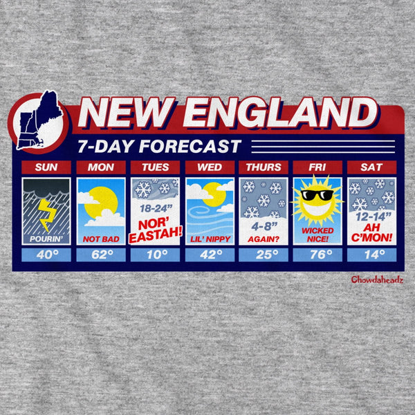 New England Weather T-Shirt - Chowdaheadz