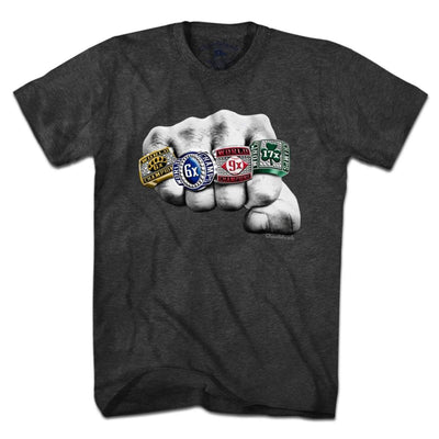 Kiss The Rings Champions T-Shirt - Chowdaheadz