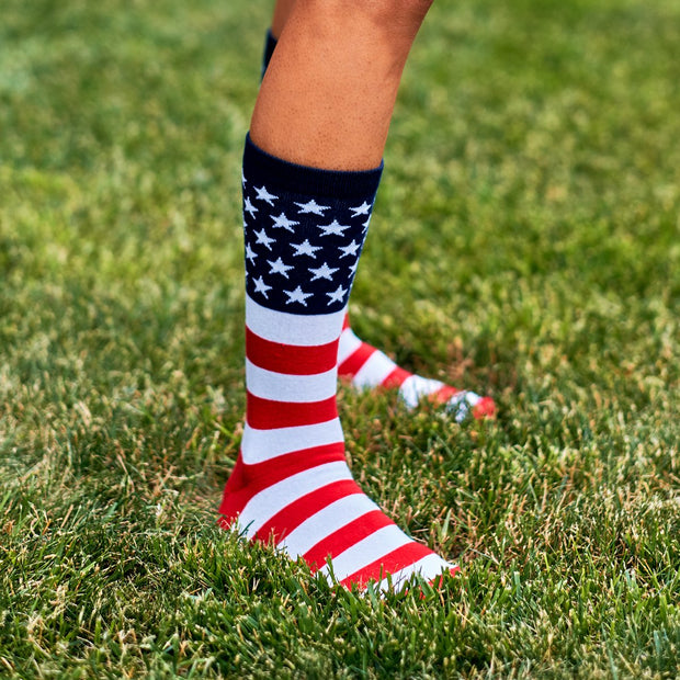 Stars & Stripes USA Crew Socks - Chowdaheadz