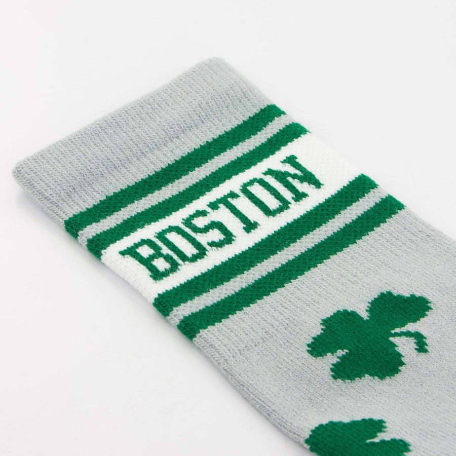 Boston Shamrock Crew Socks - Chowdaheadz