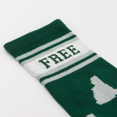 Live Free New Hampshire Crew Socks - Chowdaheadz