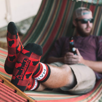 Maine Buffalo Plaid Crew Socks - Chowdaheadz