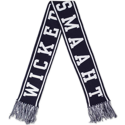 Wicked Smaaht Reversible Scarf - Navy - Chowdaheadz