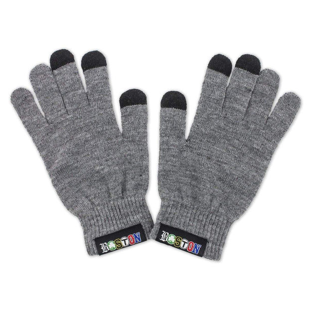 "Boston Townie Label ""Bunkah Hill"" Touch Gloves - Graphite - Chowdaheadz"