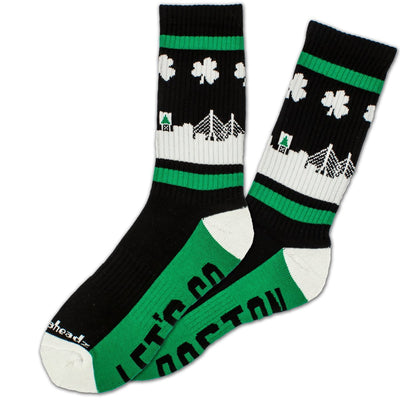 Let's Go Boston Skyline Crew Socks - Chowdaheadz