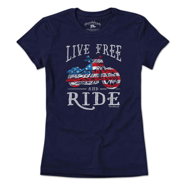 Live Free and Ride T-Shirt 1