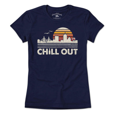 Chill Out Boston Sunset T-Shirt - Chowdaheadz