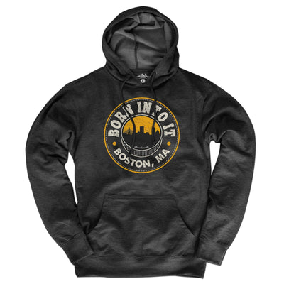 Born Into It Boston Black & Gold Lightweight Hoodie - Chowdaheadz