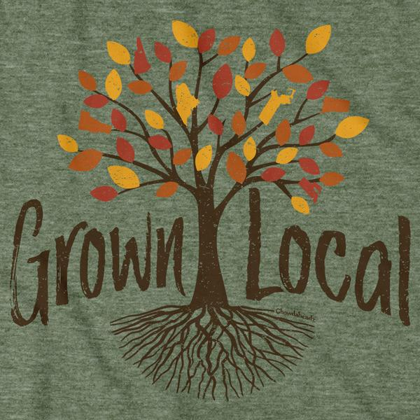 Grown Local New England T-Shirt - Chowdaheadz