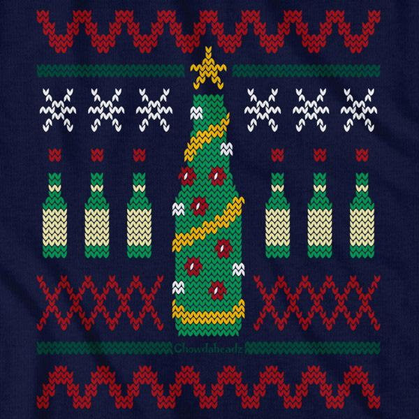 Beer Tree Ugly Holiday Sweater T-Shirt - Chowdaheadz