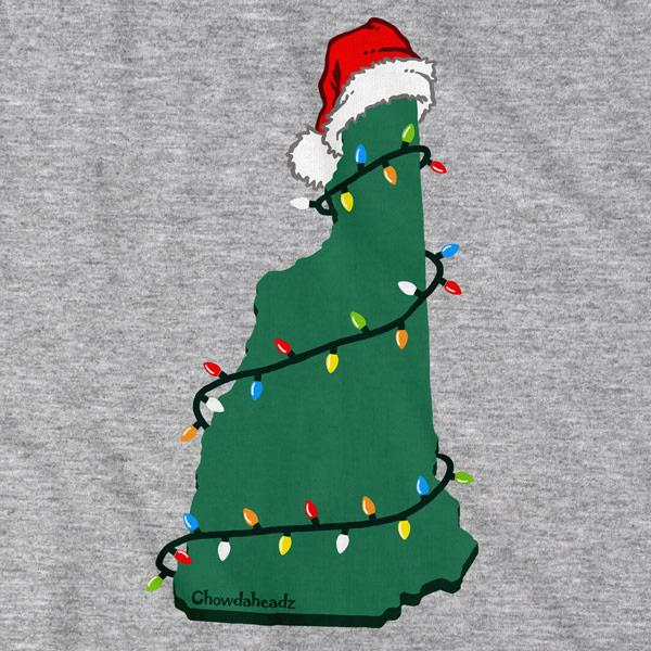 Santa Hat New Hampshire T-Shirt - Chowdaheadz