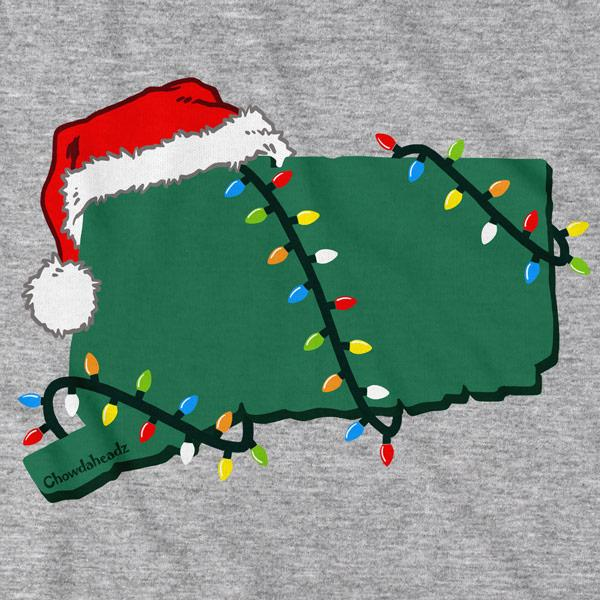 Santa Hat Connecticut T-Shirt - Chowdaheadz