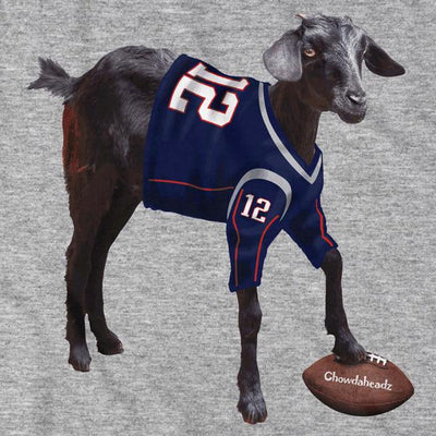 GOAT Football Fan T-Shirt - Chowdaheadz