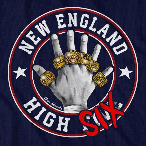 New England High Six T-Shirt - Chowdaheadz