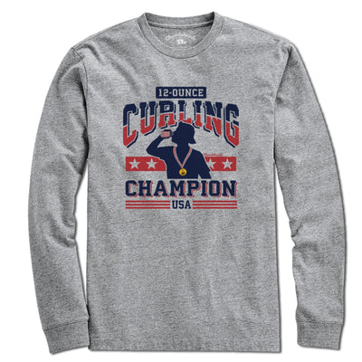 12-Ounce Curling Champion T-Shirt - Chowdaheadz