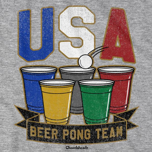 USA Beer Pong T-Shirt - Chowdaheadz