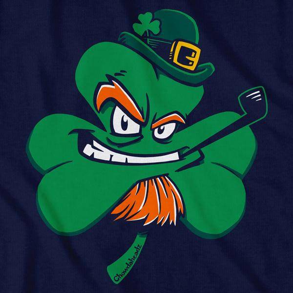 Irish Leprechaun Shamrock T-Shirt - Chowdaheadz