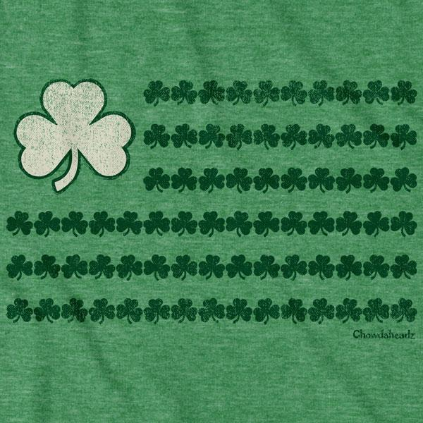 Irish Nation Shamrock Flag T-Shirt - Chowdaheadz