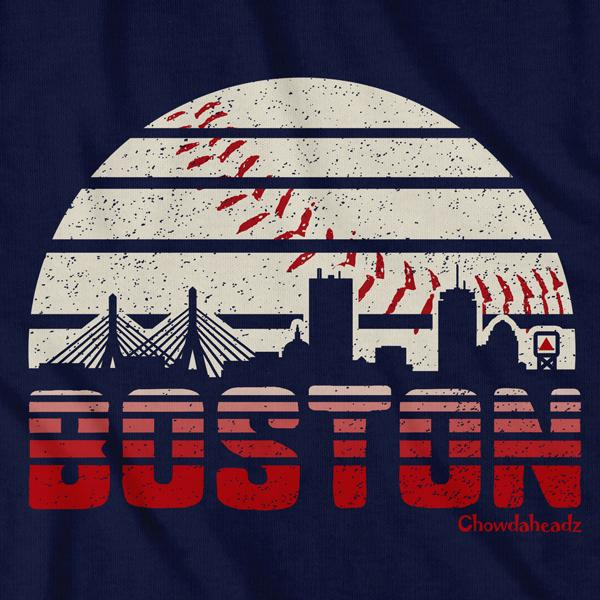 Boston Baseball Skyline T-Shirt - Chowdaheadz