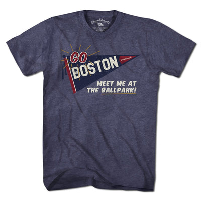 Go Boston Retro Banner T-Shirt - Chowdaheadz