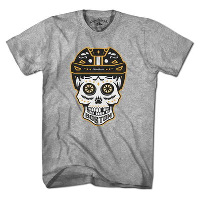 Boston Black & Gold Dead Head T-Shirt - Chowdaheadz