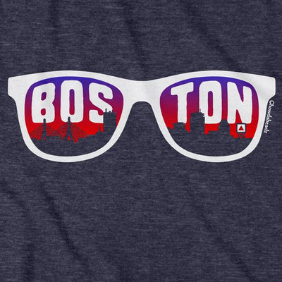 Boston Skyline Sunglasses T-Shirt - Chowdaheadz