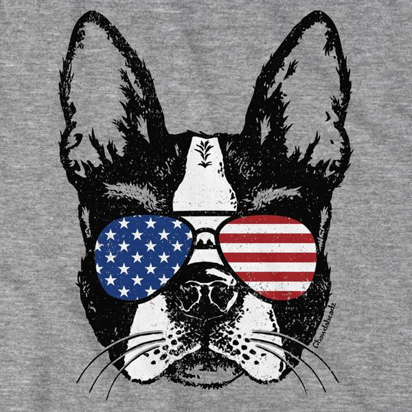 Patriotic Boston Terrier T-Shirt - Chowdaheadz