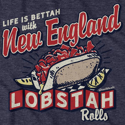 New England Lobstah Rolls T-shirt - Chowdaheadz