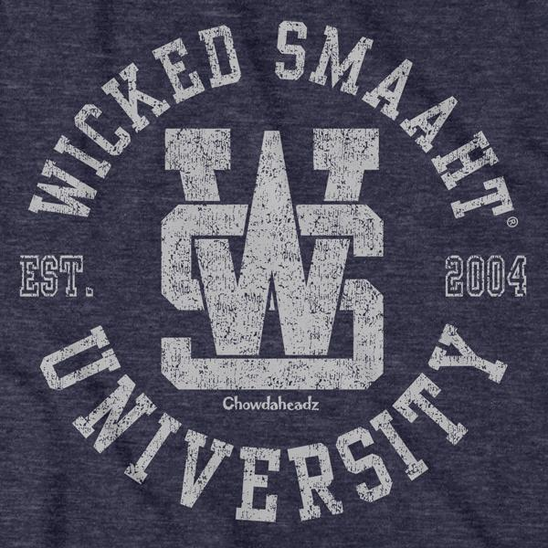 Wicked Smaaht University Circle Logo T-Shirt - Chowdaheadz