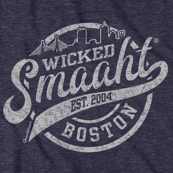 Wicked Smaaht Boston Skyline T-Shirt - Chowdaheadz