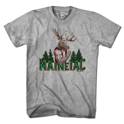 Maineiac Muscle Moose T-Shirt - Chowdaheadz