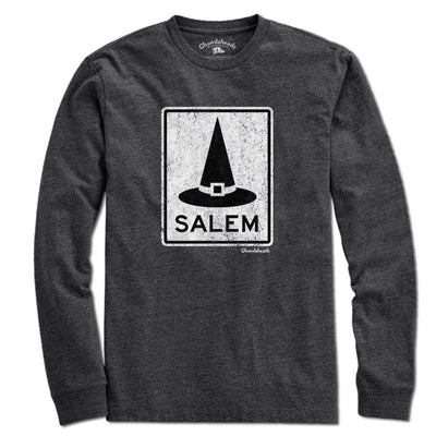 Salem MA Witch Hat Sign T-Shirt - Chowdaheadz