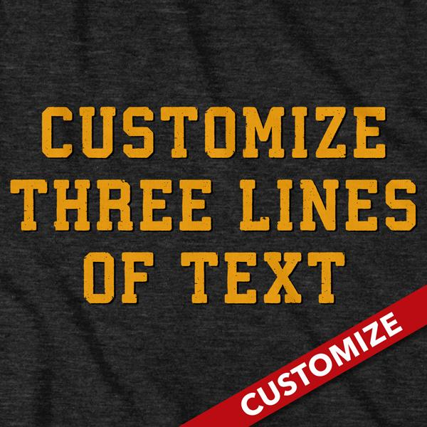3 Line Custom Fan - Charcoal T-Shirt - Chowdaheadz