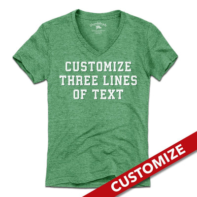 3 Line Custom Fan - Green T-Shirt - Chowdaheadz