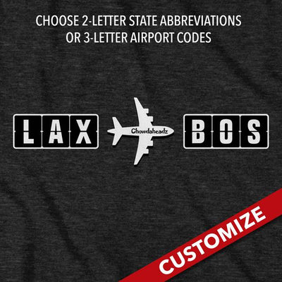 Custom Frequent Flyer T-Shirt - Chowdaheadz