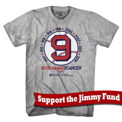 Damage Cancer Jimmy Fund T-Shirt - Chowdaheadz