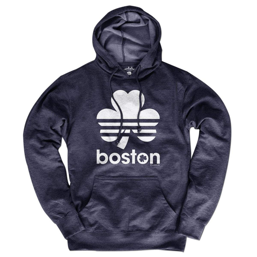 Boston Shamrock Retro Lightweight Hoodie - Chowdaheadz b353e9469
