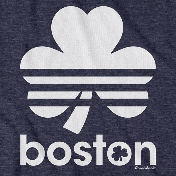 Boston Shamrock Retro Lightweight Hoodie - Chowdaheadz