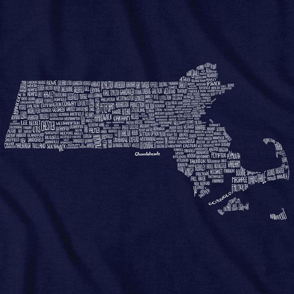Massachusetts Cities & Towns T-Shirt - Chowdaheadz