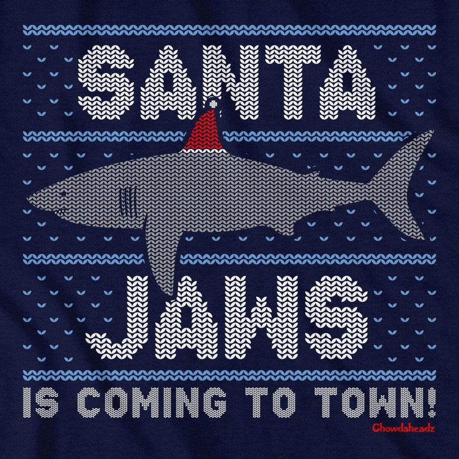 Santa Jaws Holiday T-Shirt - Chowdaheadz