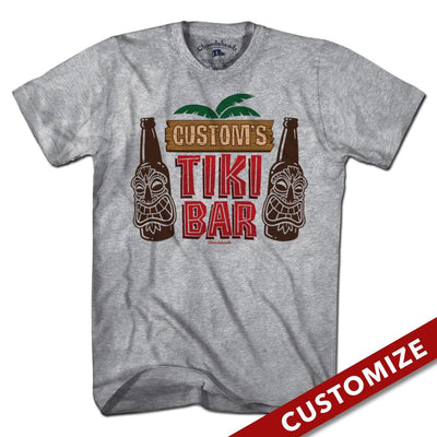 Custom Name's Tiki Bar T-Shirt - Chowdaheadz