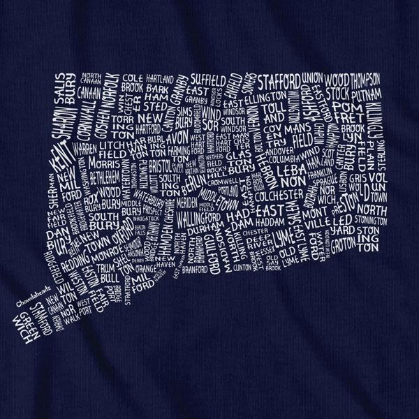 Connecticut Cities & Towns T-Shirt - Chowdaheadz